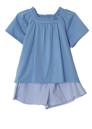 Mabel & Honey- Sunshinin' Daisies Blue Short Set