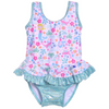 Flap Happy- Mermaid Lagoon Infant Ruffle Swimsuit w/Snaps UPF50+