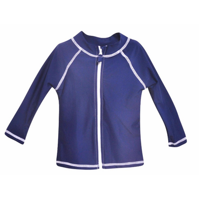 Flap Happy- Navy Zip Front Rashguard