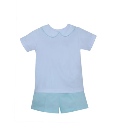 Lullaby Set- Peter Seafoam Short Set
