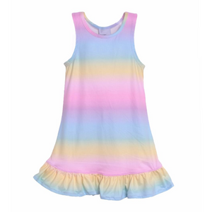 Flap Happy- Rainbow Jillian A-Line Dress/Swimsuit Coverup UPF50+