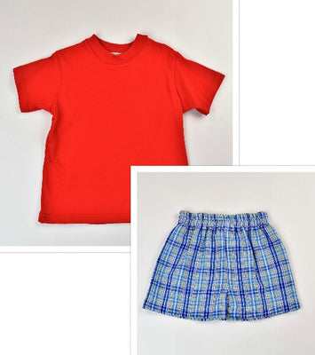 Funtasia Too- Red Plaid Short Set