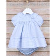 Sophie & Lucas- Blue Coastal Check Ruffle Float Dress