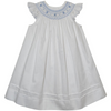 Collection Bebe- Anne Smocked White Pique Bishop