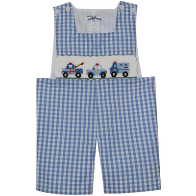Silly Goose- Cars Smocked Sunsuit