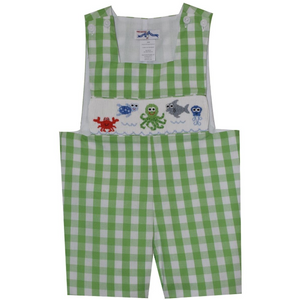 Silly Goose- Under the Sea Smocked Sunsuit