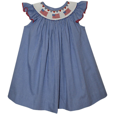 Silly Goose- Americana Smocked Bishop