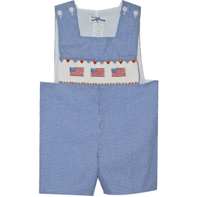 Silly Goose- Americana Smocked Sunsuit