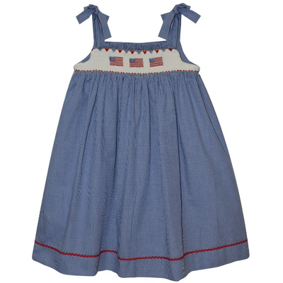 Silly Goose- Americana Smocked Strap Dress
