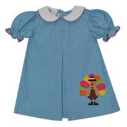 Silly Goose- Turquoise Turkey Dress
