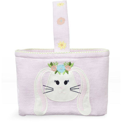 Zuccini- Easter Bunny Applique Pink Basket