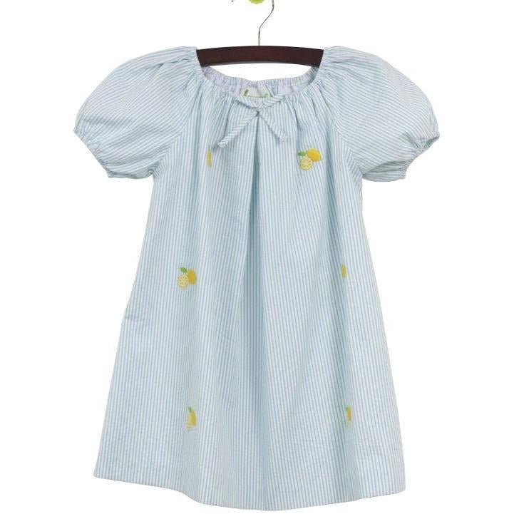 Zuccini- Lemons Embroidered Dress