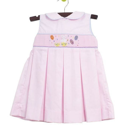 Zuccini- Easter Bunny Smocked Round Collar Dress