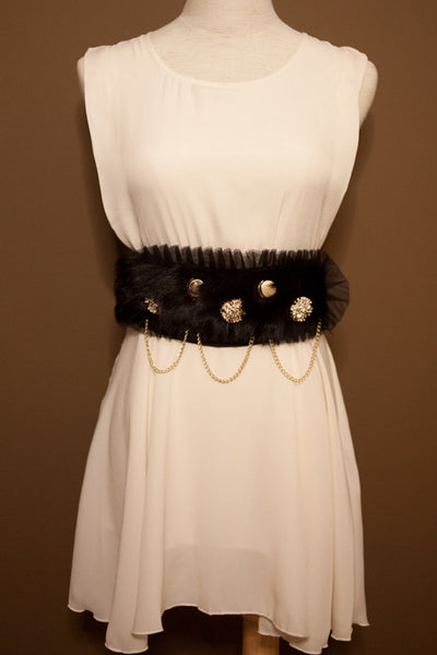 Elegant Faux Fur Belt