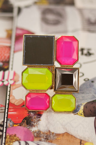 Big Multi-color Neon Ring