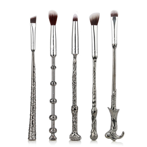 Image of 5 Piece Harry Potter Magic Wands Makeup Brush Set