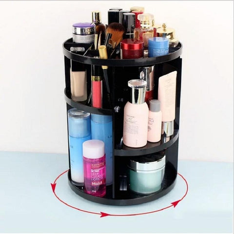 360° Rotating Makeup Organizer for Cosmetics and Brushes Choose From 3 Different Colors!