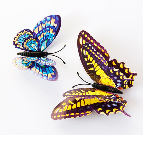 Realistic 3D Butterfly Wall Decal (Set of 12)