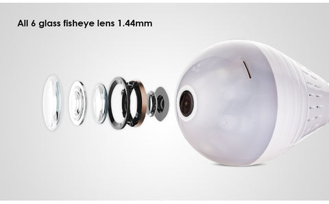 Wireless 360° Panoramic Home Security Camera Lightbulb