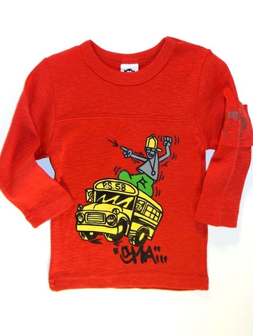Appaman Infant ACC Schoolbus Long Sleeve Shirt