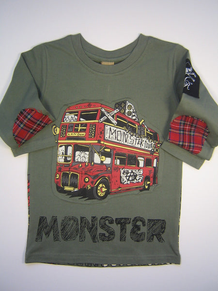 Monster Republic Double Decker London Bus Long Sleeve Shirt