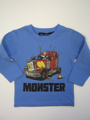 Mini Monster Big Semi Long Sleeve Shirt