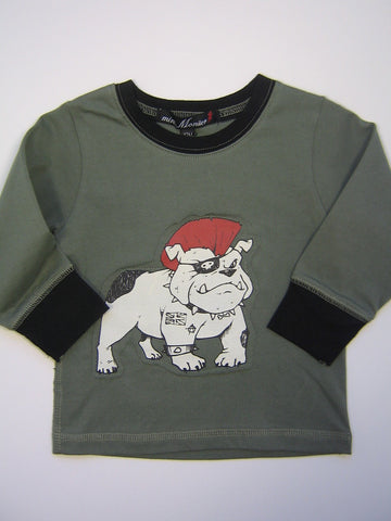 Mini Monster Punk Bulldog Long Sleeve Shirt