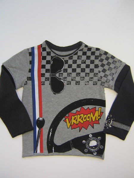 Mini Shatsu Speeder Vroom Long Sleeve Shirt