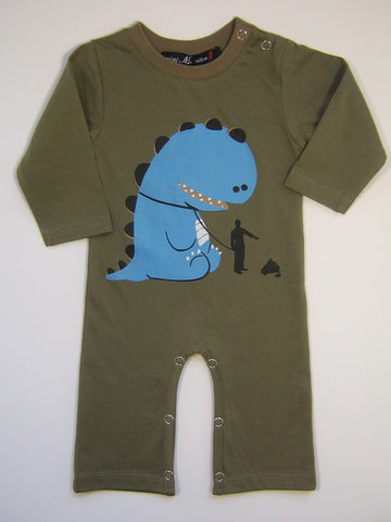 Mini Monster Bad Dino One Piece Romper
