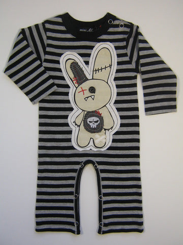 Mini Monster Patchwork Bunny One Piece Romper