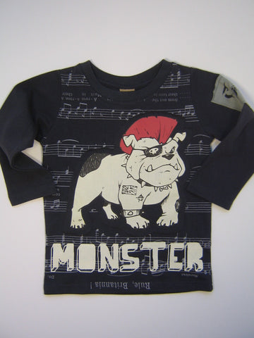 Monster Republic Punk Bulldog Long Sleeve Shirt