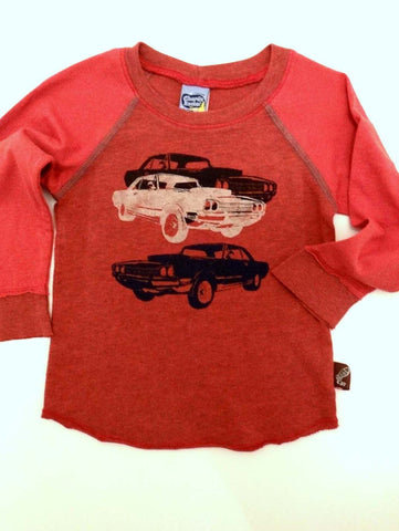 Charlie Rocket Infant Triple Car Long Sleeve Tee