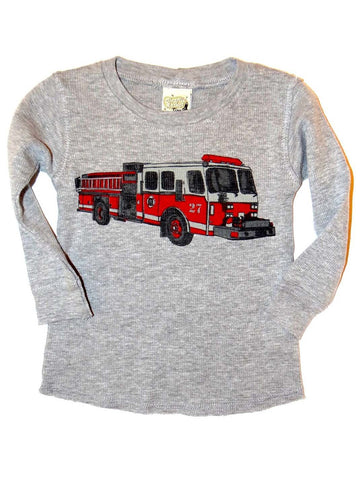 Charlie Rocket Infant Fire Engine Long Sleeve Thermal