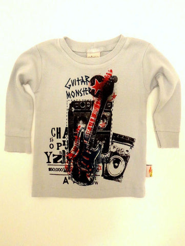 Charlie Rocket Infant Monster Guitar Long Sleeve Tee