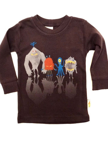 Charlie Rocket Infant Monster Line Up Long Sleeve Tee
