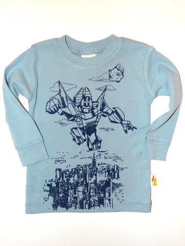 Charlie Rocket Infant Transformer Long Sleeve Tee
