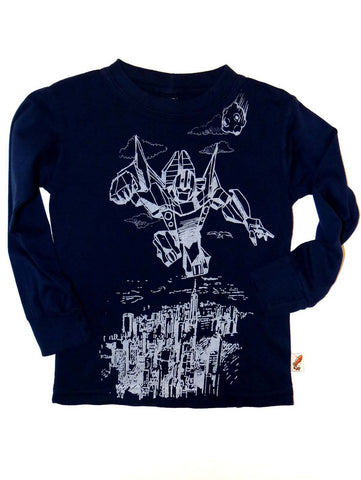 Charlie Rocket Transformer Long Sleeve Tee