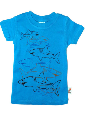 Charlie Rocket Linear Sharks Infant Short Sleeve Shirt