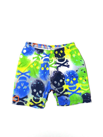 Charlie Rocket Painted Skulls Infant Swim Shorts