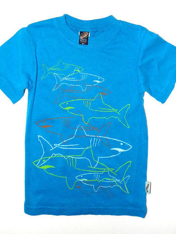 Charlie Rocket Linear Sharks Short Sleeve Shirt