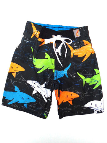 Charlie Rocket Linear Sharks Swim Shorts