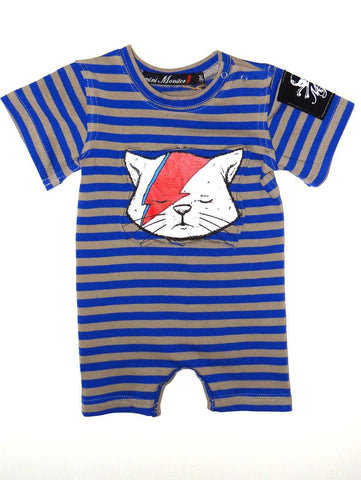 Mini Monster Lightning Cat One Piece Romper