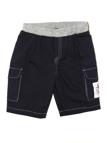 Mini Monster Grey Twill Cargo Shorts