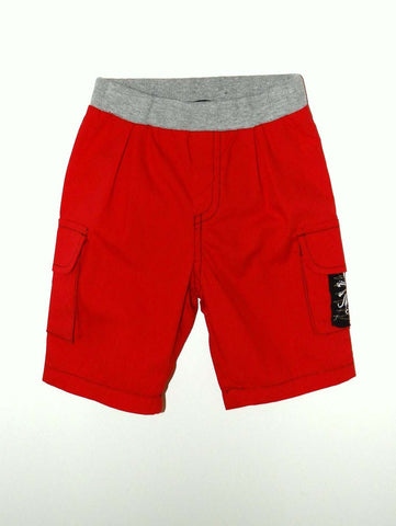 Mini Monster Red Twill Cargo Shorts