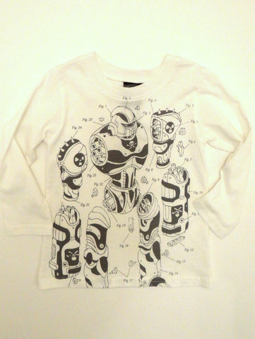Monster Republic Robot Parts Long Sleeve Tee