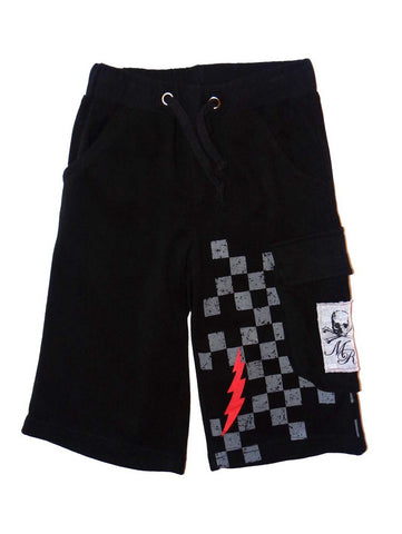 Monster Republic Black French Terry Cargo Shorts