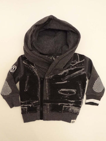 Mini Shatsu Infant Leather On Tour Vest Hoodie
