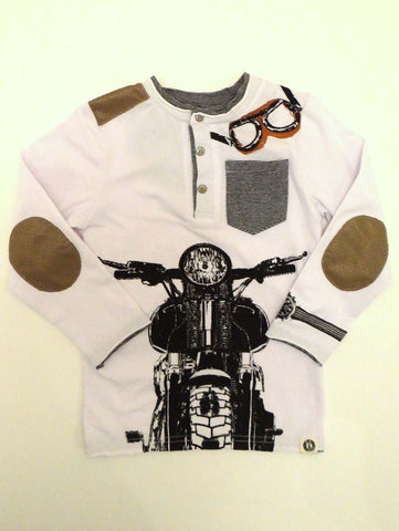 Mini Shatsu Vintage Biker Long Sleeve Henley