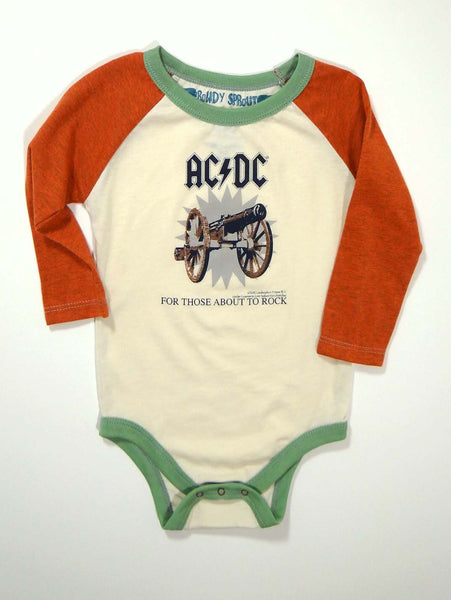 Rowdy Sprout AC/DC Long Sleeve One Piece