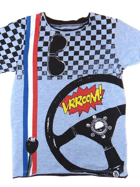 Mini Shatsu Speeder Vroom Short Sleeve Shirt